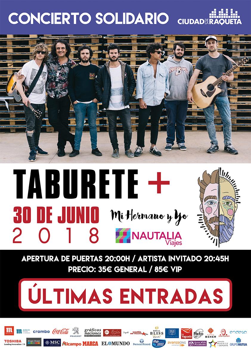 Ciudad de la raqueta for Entradas concierto taburete